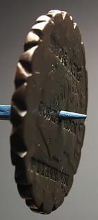 MACKRELL-RICHARDSON 1819 counterstamped Large Cent pie crimper edge-2a