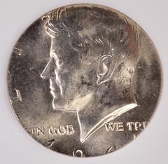 1964 Kennedy Half Struck on a Clad Quarter Planchet obverse