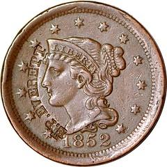 E.P. EVERETT Counterstamp on Large Cent obverse
