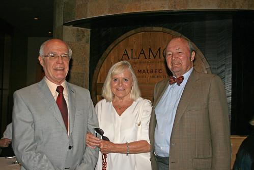 Fernando Chao with Regina and John W. Adams