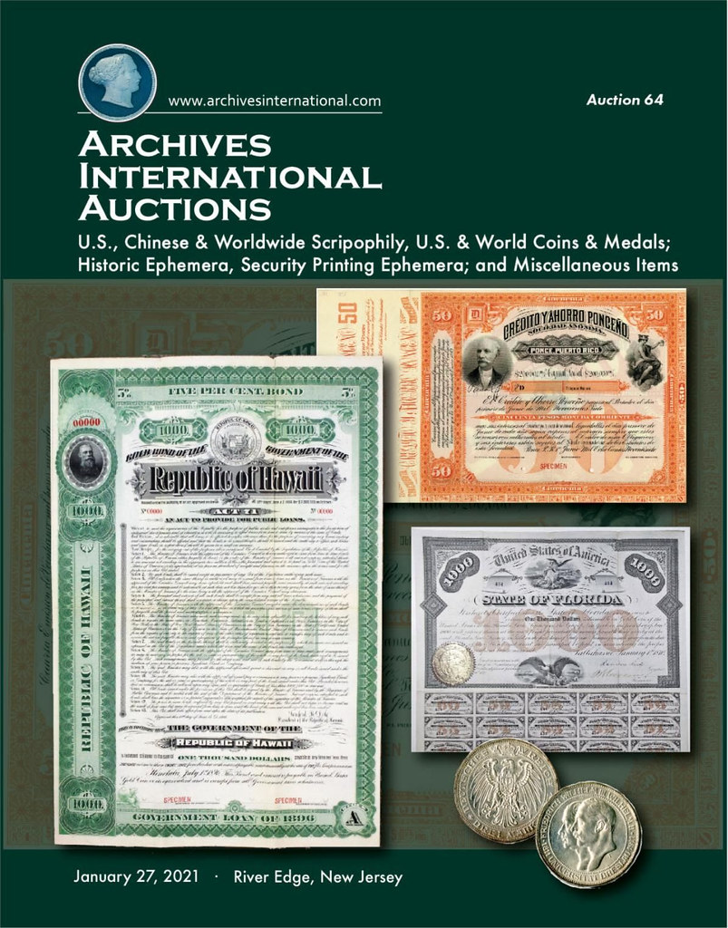 Archives International Sale 64 cover front
