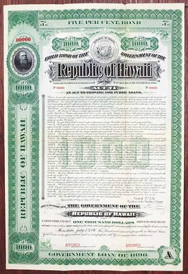 Hawaii Government Loan of 1896