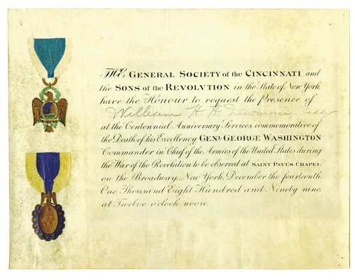 Society of the Cincinnati Invitation