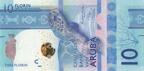 2019 Aruba 10 Florin banknote