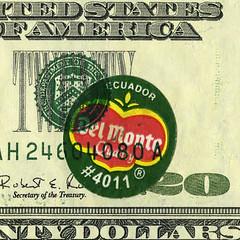 Del Monte $20 error note closeup