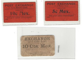 Marines Post Exchsnge Mex. scrip notes