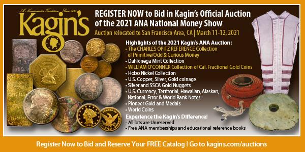 Kagins E-Sylum ad 2021-01-24