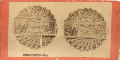 Stereoview - National Currency Notes (5)