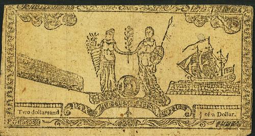 Maryland July 26, 1775 $2 2-3 Allegorical Series back