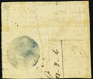 Georgia June 8, 1777 $8 Red back