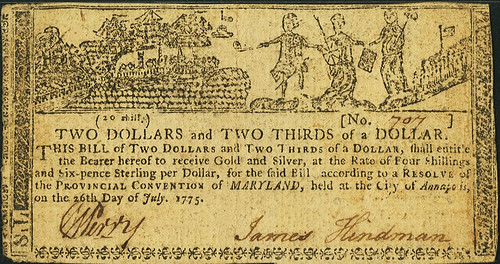 Maryland July 26, 1775 $2 2-3 Allegorical Series front