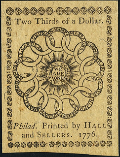 Continental Currency February 17, 1776 $2-3 back