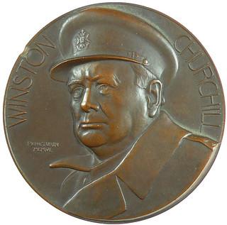 Churchill Navy Medal obverse