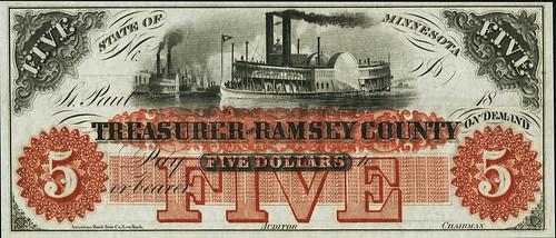St. Paul Minnesota Steamboat Note