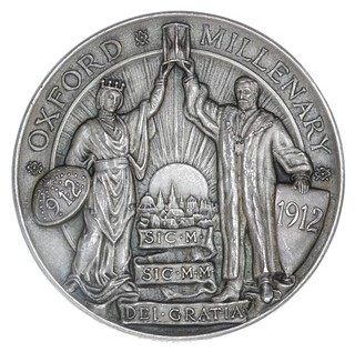 1912 Oxford Millenary Medal reverse
