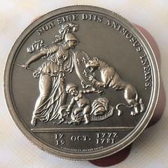 Libertas Americana revese antique silver 2 oz