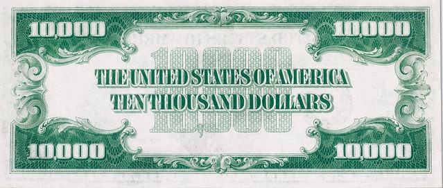Rau $10,000 bill back