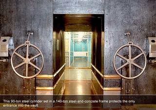 New York Fed gold vault door