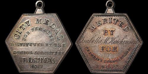 1821 Boston School Medal