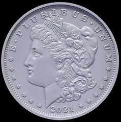 2021 Morgan silver dollar rendition obverse
