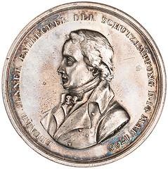 Edward Jenner silver medal obverse