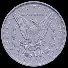 2021 Morgan silver dollar rendition reverse