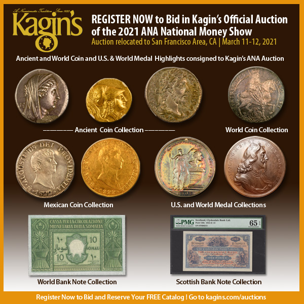Kagins E-Sylum ad 2021-01-31