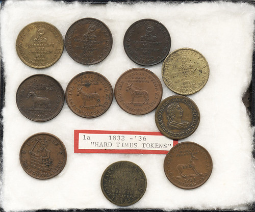 Hard Times Tokens from tokens from Cornell University Collection of Political Americana
