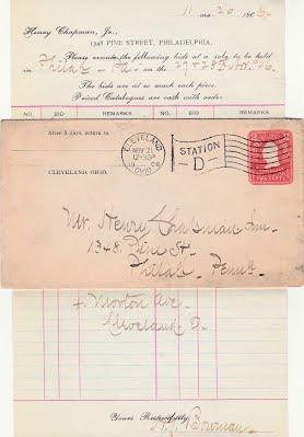 BOWMAN-1906, Nov 21 Leeds sale bids