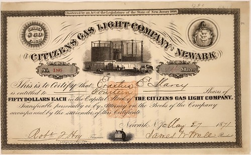 Citizens Gas stock certificate