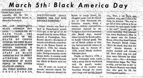Black American Day article