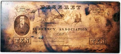 Utah Mercantile Currency $10 plate