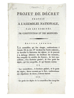 French governmental monetary system publications