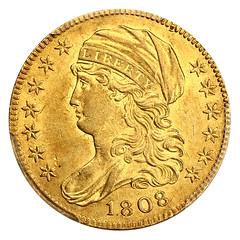 1808 Half Eagle obverse