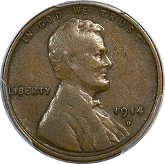 1914-D Lincoln Cent obverse