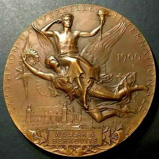 1900 Paris Exposition medal reverse