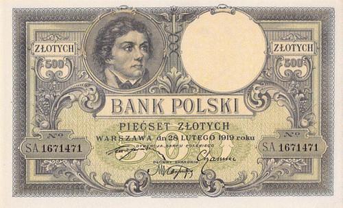 1919 Poland 500 Zlotych