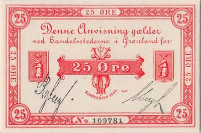 1905 Greenland 25 Ore