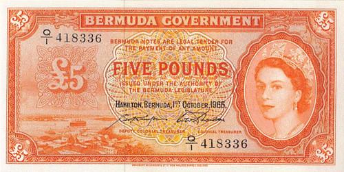 1966 Bermuda 5 Pounds