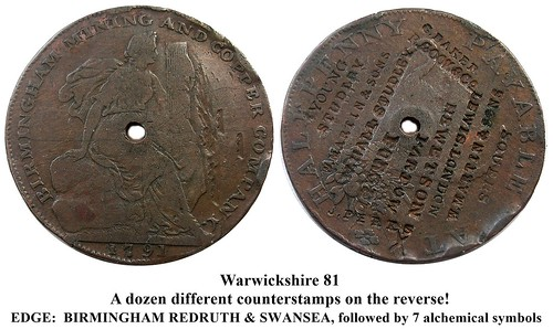 Warwickshire 81 counterstamps