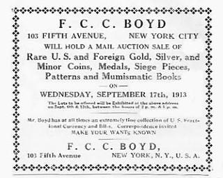 Boyd Numismatist ad 1913 Sept 17