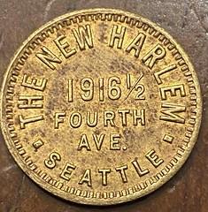 The New Harlem trade token obverse