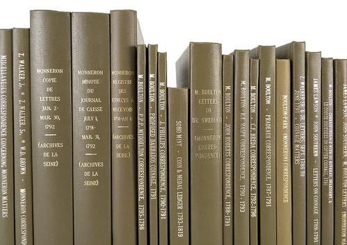 Bound papers of Matthew Boulton