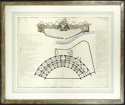 architectural plan of the Bank Mint at St. Petersburg