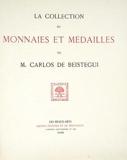 catalogue of the Carlos de Beistegui collection