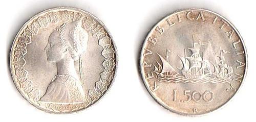 Italy 500 Lira coin