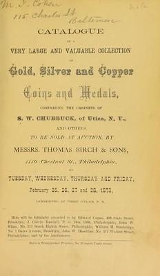 Haseltine Chubbuck sale 1873-02-28