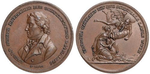 smallpox pioneer Edward Jenner medal