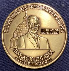 2009 Obama Zanzibar coin obverse