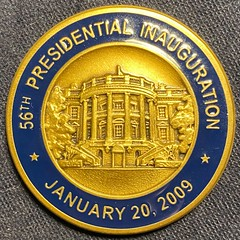 2009 Obama Inauguration challenge coin obverse